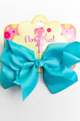 ocean blue bow with clip
