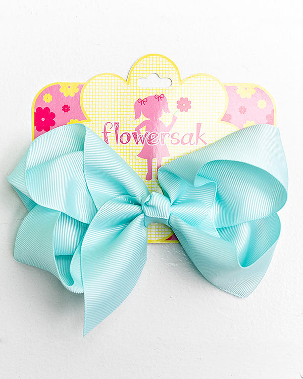 light pearl blue bow with clip