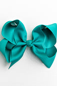 teal bow with clip