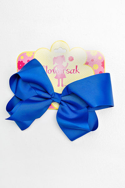 "Royal Blue 6"" Hair Bow"