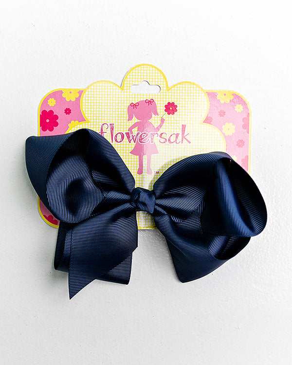 dark blue bow with clip