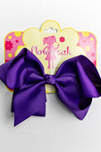 DARK PURPLE BOW WITH CLIP