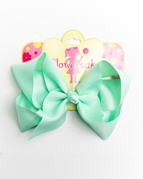 light mint bow with clip