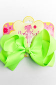 NEON GREEN BOW WITH CLIP