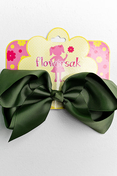 dark green bow with clip