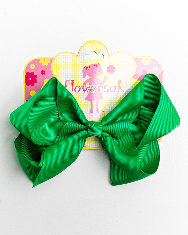 GREEN BOW WITH ALLIGATOR CLIP