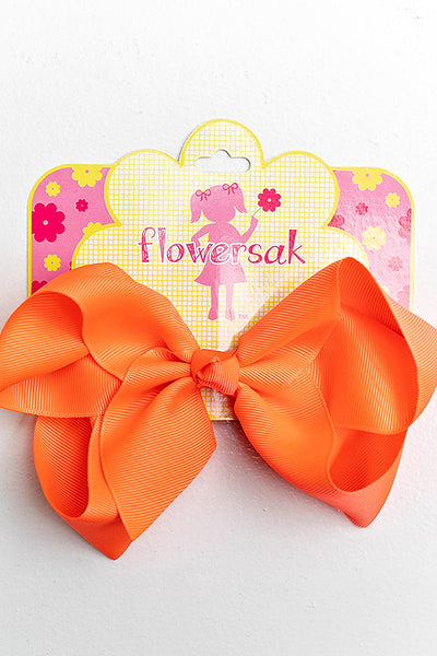 bright orange bow with clip