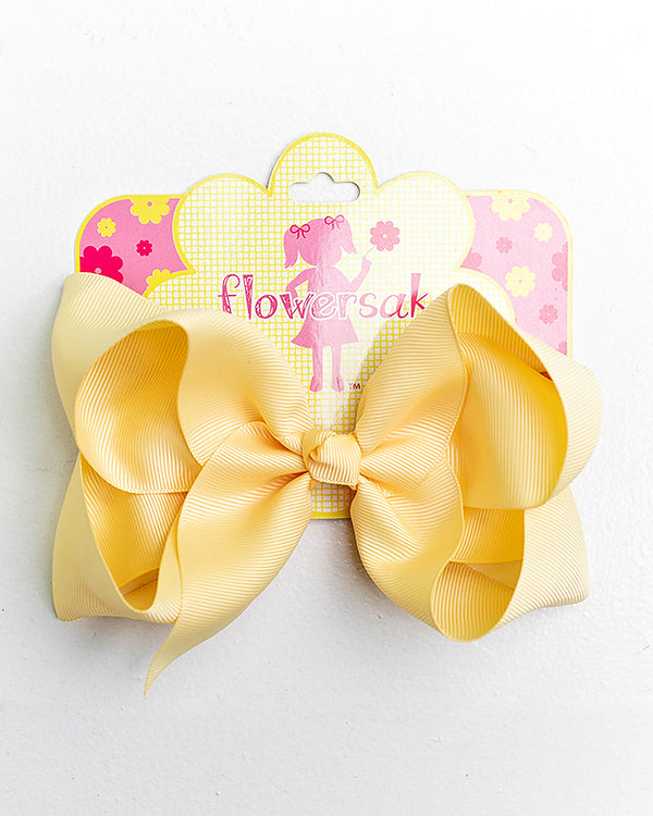 PEARL YELLOW BOW WITH CLIP