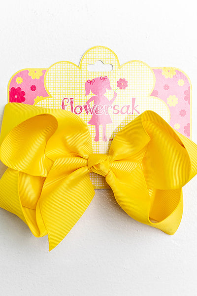 YELLOW BOW WITH CLIP