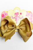 GOLD OLIVE BOW WITH CLIP