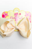 CREAM BOW WITH CLIP