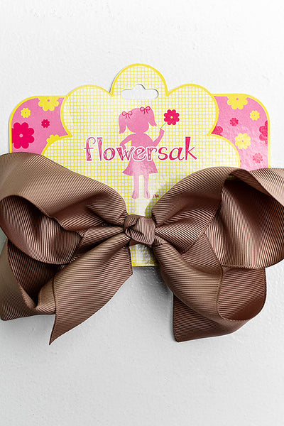 KHAKI BOW WITH CLIP