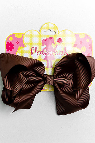 CHOCOLATE BROWN BOW WITH CLIP