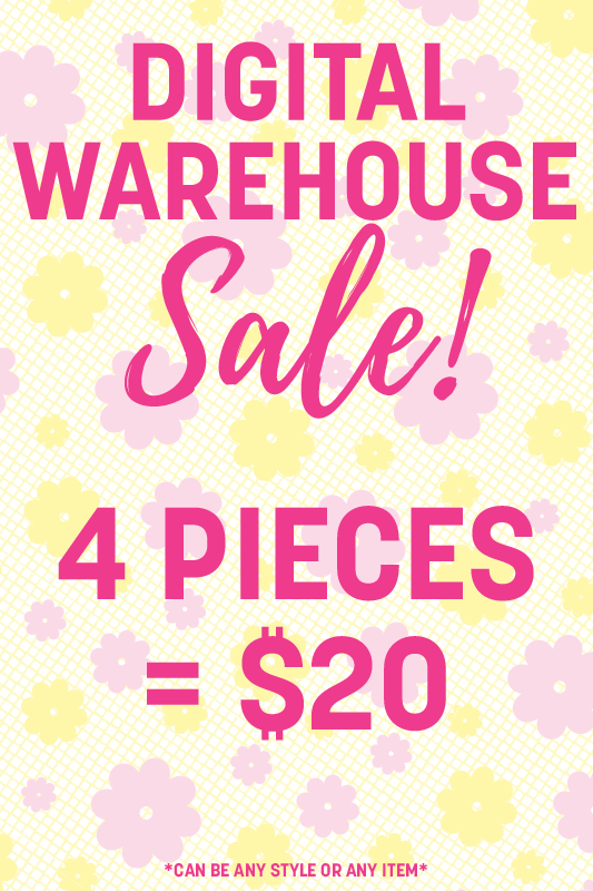 4 Digital Warehouse Sale Items = $20