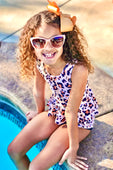 Girls ANimal Print Swimsuit