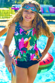 Tropical Tankini For Girls