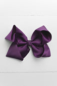 Plum Hair Bow