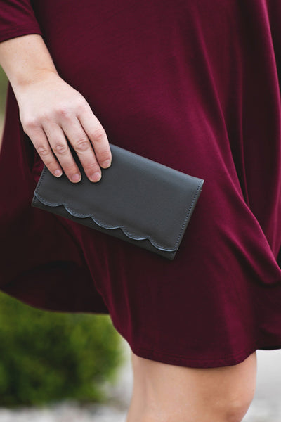 Gray Scallop Wallet