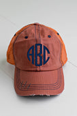 Orange Distressed Trucker Hat