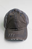 Dark Gray Distressed Trucker Hat