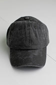 Dark Gray Washed Baseball Cap