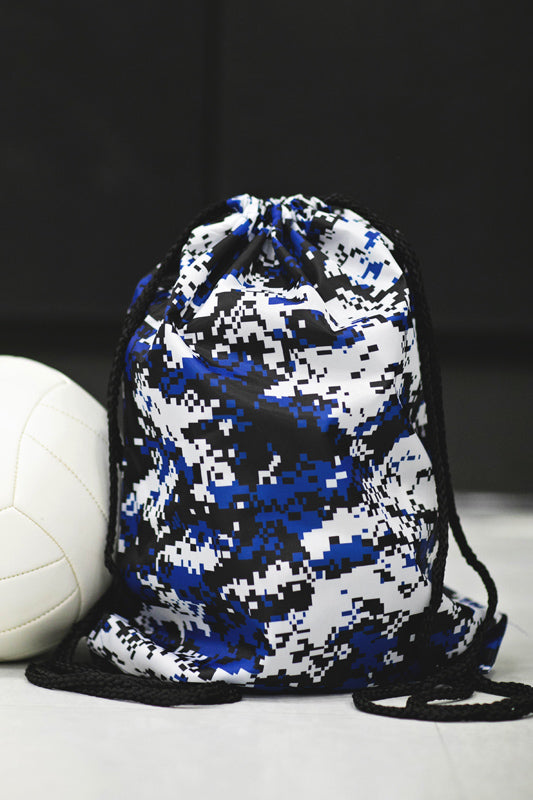 Blue Digital Camo Cinch Sack