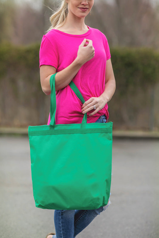 Green Zipper Tote