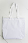 White Zipper Tote