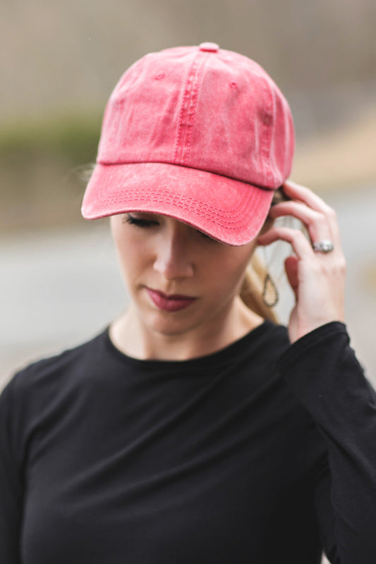 Scarlett Washed Baseball Cap