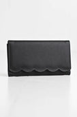 Black Scallop Wallet
