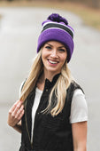 Purple/Black Beanie
