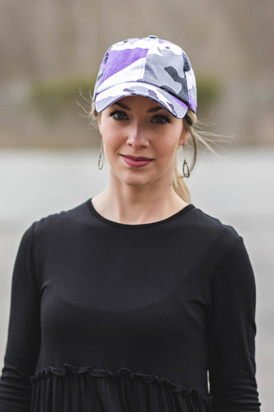 Purple Camo Baseball Cap