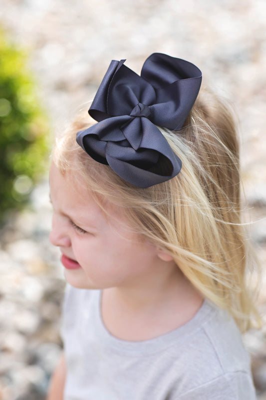 Charcoal Hair Bow