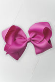 Raspberry Rose Hair Bow