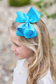 Vivid Blue Hair Bow