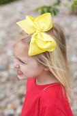 Lemon Hair Bow