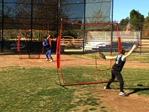 Bownet 7' x 7' Pitch Thru Screen for Softball - Net Only