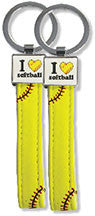 Softball Keychain - Real Softball Material