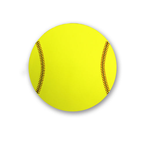 Softball Mouse Pad - Real Softball Material