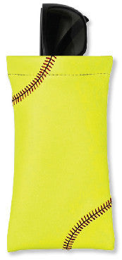 Softball Sunglass Pouch - Real Softball Material