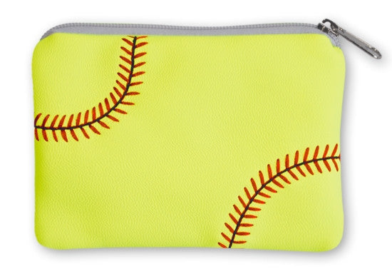 Softball Coin Purse - Real Softball Material