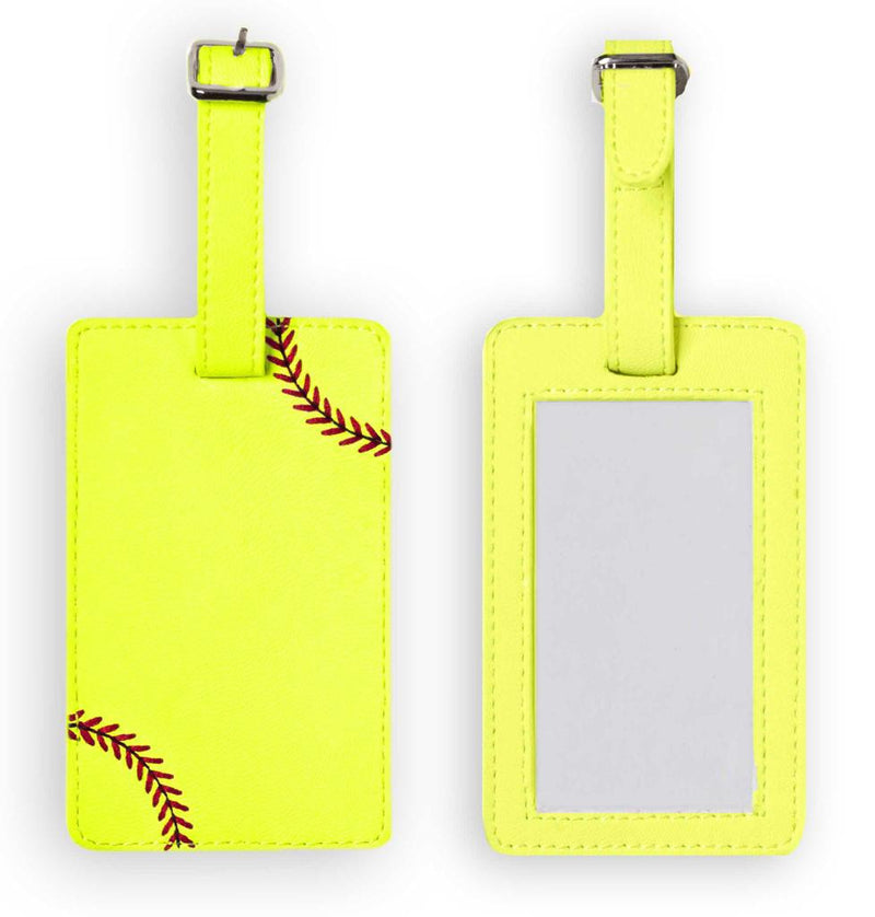 Softball Luggage Tag - Real Softball Material