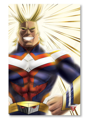 "All Might Premium Gold Foil Poster - 11"" x 17"""