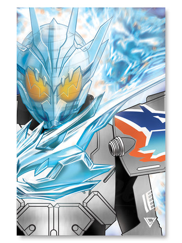 "Cross-Z Charge Premium Silver Foil Poster - 11"" x 17"""