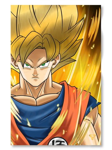 "Earth's Greatest Defender SS Premium Gold Foil Poster - 11"" x 17"""