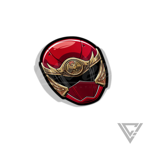 "HurricaneRed - 3""x 3"" Vinyl Sticker"