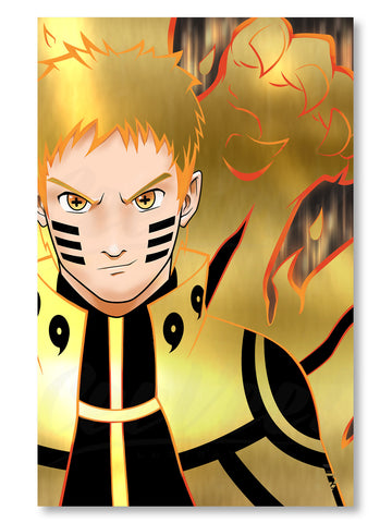 "Naruto Six Paths Premium Gold Foil Poster - 11"" x 17"""