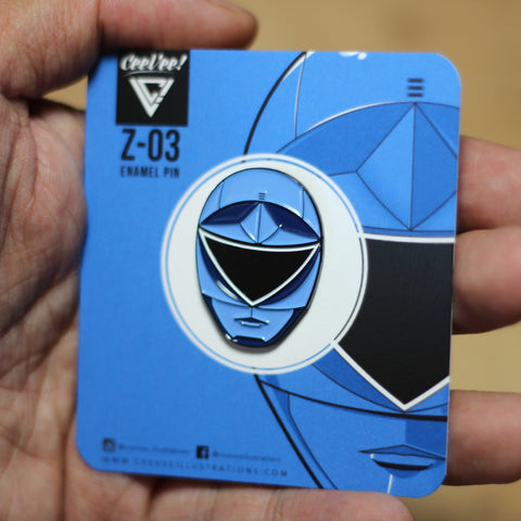 Z-03 SP Squadron Blue - Soft Enamel Collectible Pin