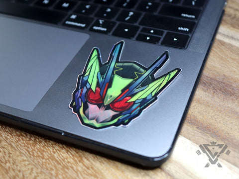 "Shining Assault Hopper Head - 3""x 3"" Holographic Sticker"