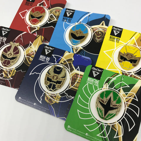 Shinobi Squad Collectible Pin Set (6 Pins Total)